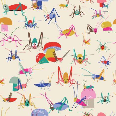 crickets fabric by pragya_k on Spoonflower - custom fabric