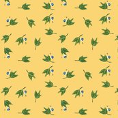 Rrrgreen_leaves_on_light_gold_background_with_blue_snails-1_shop_thumb
