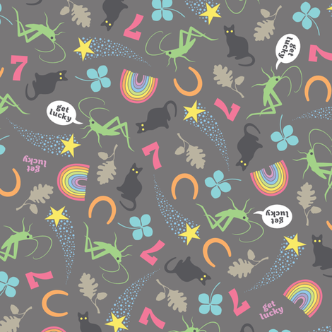 Get Lucky fabric by cerigwen on Spoonflower - custom fabric