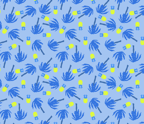 blue hawaii fabric by susiprint on Spoonflower - custom fabric