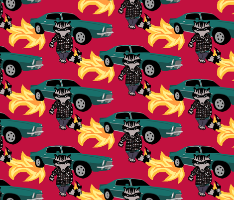 Smokin' and a Bandit fabric by pond_ripple on Spoonflower - custom fabric