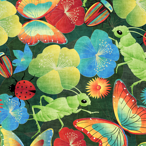 bugs' life fabric by kociara on Spoonflower - custom fabric