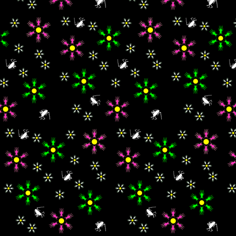 Cricket Flower Summer fabric by 13moons_design on Spoonflower - custom fabric