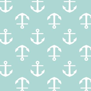 Mint Anchors Pattern