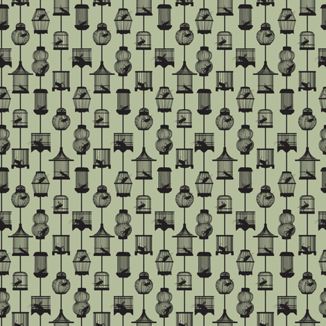 Lucky_Ditzy_Crickets fabric by aalk on Spoonflower - custom fabric