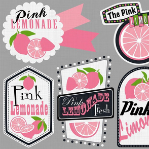 Julie's Pink Lemonade Labels