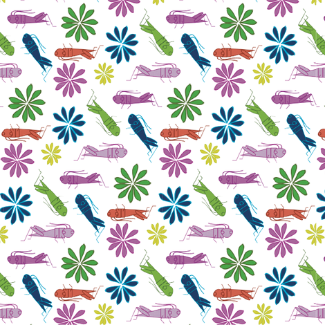 happycrickets fabric by am2pmdesigns on Spoonflower - custom fabric