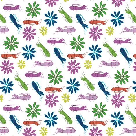 happycrickets fabric by am2pmdesigns on Spoonflower - custom fabric