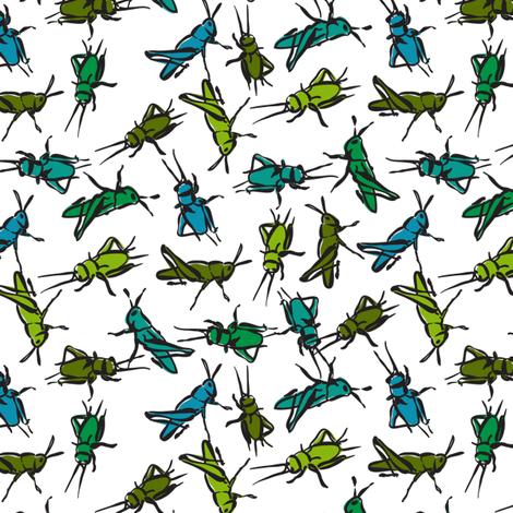 lucky crickets fabric by minimiel on Spoonflower - custom fabric