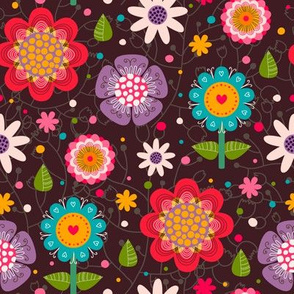 Floral seamless pattern.