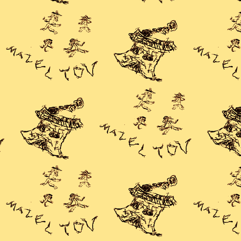 Mazel Tov! fabric by winterblossom on Spoonflower - custom fabric