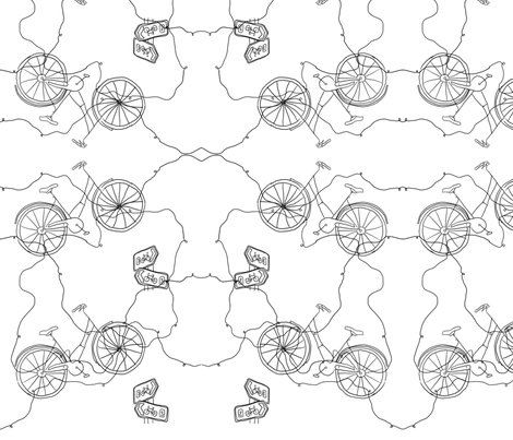 bike fabric by rucifer on Spoonflower - custom fabric