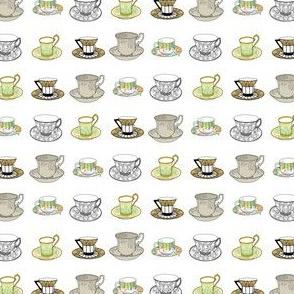 Teacups - earthtones