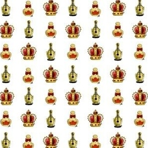 Perfume, pen and Crown