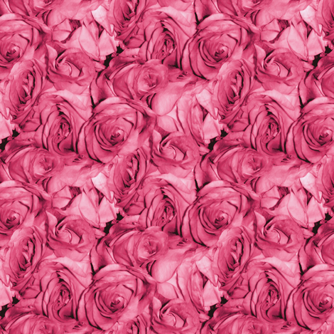 Bubblegum Rose ~ Small fabric by peacoquettedesigns on Spoonflower - custom fabric