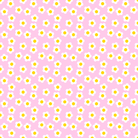 Scattered Daisies - Pink