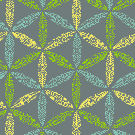 Pysanky triangles - flights of fancy fabric by weavingmajor on Spoonflower - custom fabric