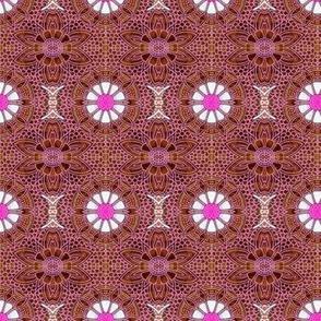 Chocolate Ghostflower Batik