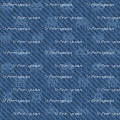 XXL alien invasion on pixelated denim
