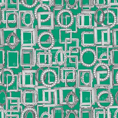 picture frames aplenty green
