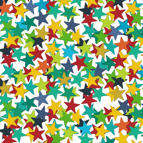 star ditsy fabric by scrummy on Spoonflower - custom fabric