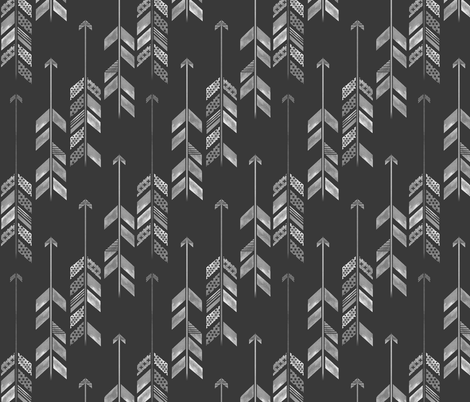 Herringbone Arrow in Charcoal fabric by emilysanford on Spoonflower - custom fabric