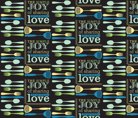 Celebrate Jeanie-black/multicolor-ch fabric by sweet_pea_paisley on Spoonflower - custom fabric