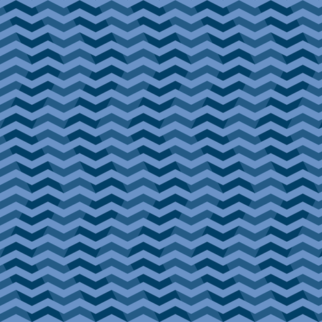 twilight chevron ripples in blue fabric by weavingmajor on Spoonflower - custom fabric