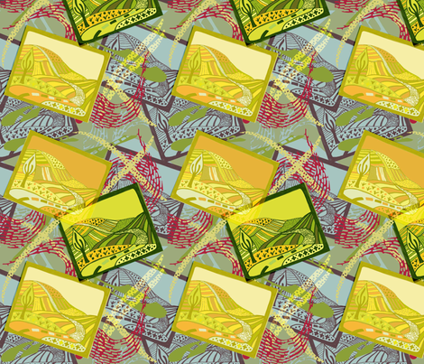 The Long and Winding Road fabric by slumbermonkey on Spoonflower - custom fabric