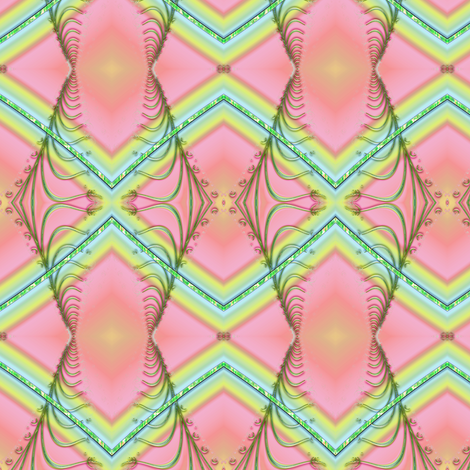 Zigzag Pastel Rainbow, Pink fabric by eclectic_house on Spoonflower - custom fabric