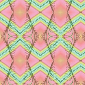 Zigzag Pastel Rainbow, Pink