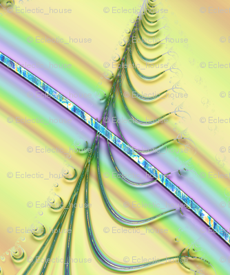 Zigzag Pastel Rainbow, Yellow