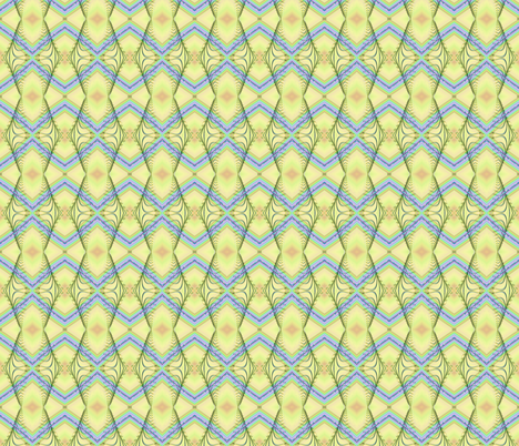 Zigzag Pastel Rainbow, Yellow fabric by eclectic_house on Spoonflower - custom fabric