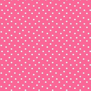 Boho Dots | White Spots on Bubblegum Pink