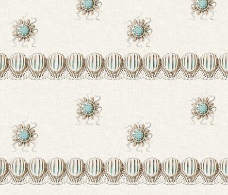 Sea Disks and Baby Jellies fabric by sparrowsong on Spoonflower - custom fabric