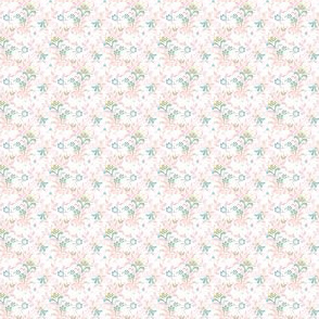 Paisley Leaf - pink and blue