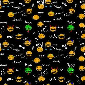 Ditsy Halloween Pumpkins