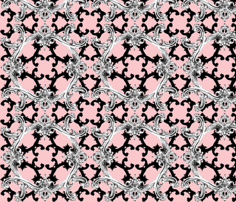 The Rococo Swag ~ Sophia fabric by peacoquettedesigns on Spoonflower - custom fabric