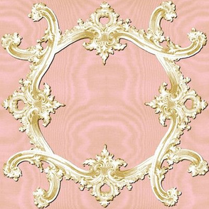The Rococo Swag ~ Ballet Pink Moire and Gilt
