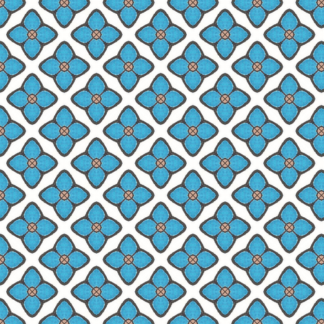 Dreamwood Blue Flower fabric by siya on Spoonflower - custom fabric