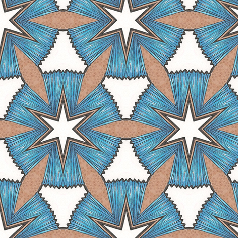 Dreamwood Star fabric by siya on Spoonflower - custom fabric