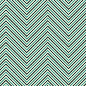 Brown Aqua Chevron