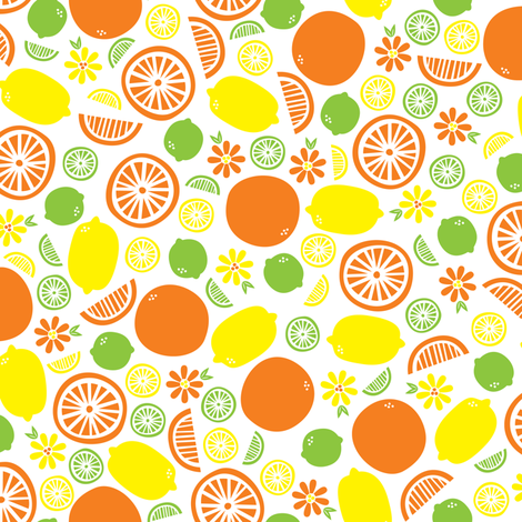 A Splash of Citrus (light) fabric by robyriker on Spoonflower - custom fabric