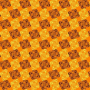 checker swirl orange