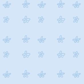 Simple Cute Flowers - Blue