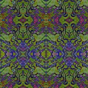 Convergence - greens, purples, blues