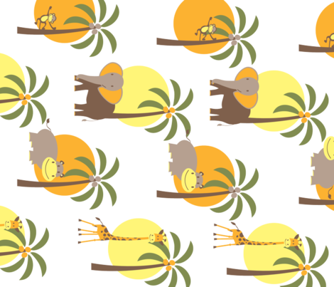 Jungle fabric by kuijers on Spoonflower - custom fabric