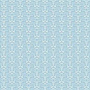 Lotus Vine - blue and white