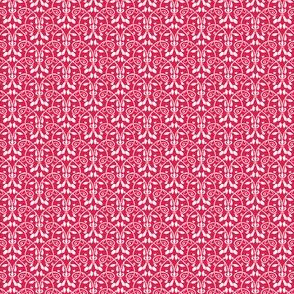 Lotus Vine - red and white