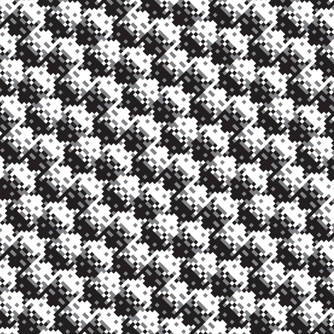 Invader Houndstooth fabric by verenaerin on Spoonflower - custom fabric